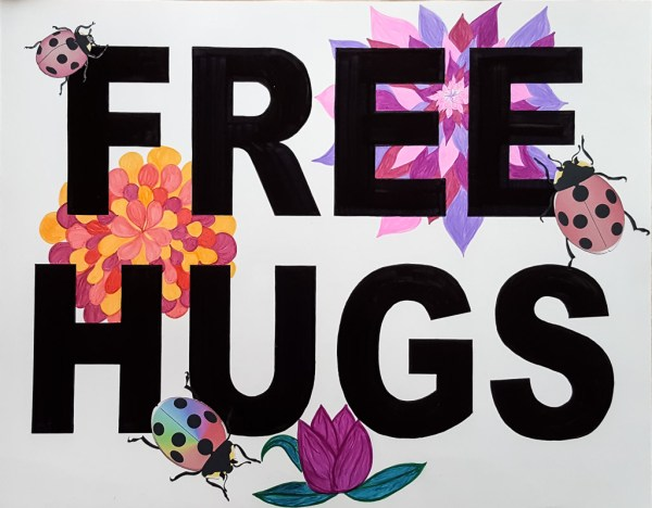 Marcia's FREE HUGS Poster