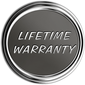 Lifetime Warranty Chrome Medallion