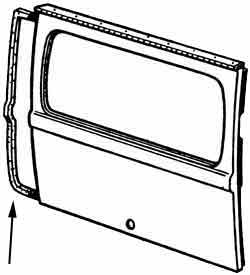 1964-1971 rear hatch seal