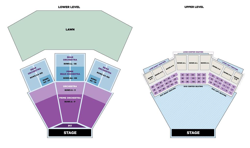 Filene center seating chart also wolf trap rh wolftrap