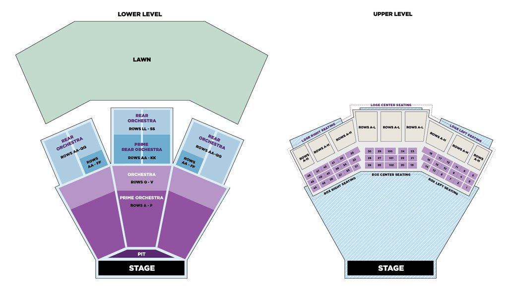 Filene center seating chart also charts wolf trap rh wolftrap