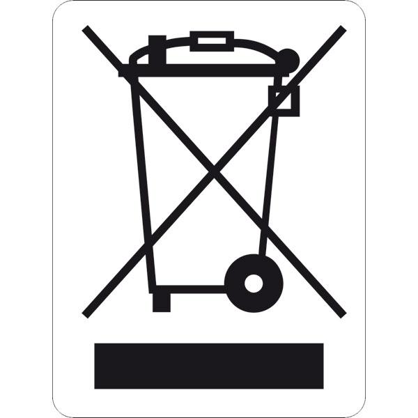 Betriebskennzeichnung Symbol WEEE Richtlinie (Abfalltonne