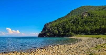 im Norden von Olchon - Blick über den Baikal