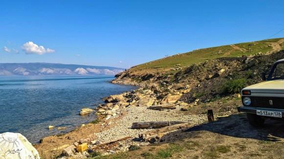 im Hafen von Khuzhir auf Olchon