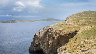 im Süden Olchons - Blick auf Insel Ogoj