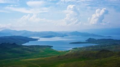 Im Süden Olchons - Blick auf die Baikal-Westküste