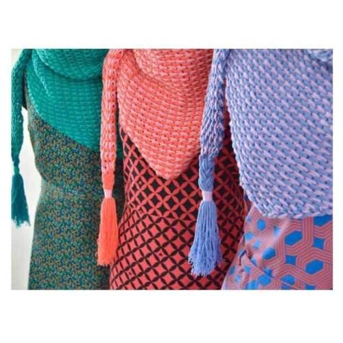 byclaire ton sur ton sjaal tunisch haakpatroon