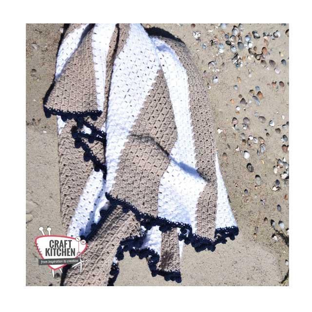 schachenmayr stranddeken soft and easy haakpatroon