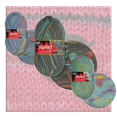 opal reliëf sokkenwol