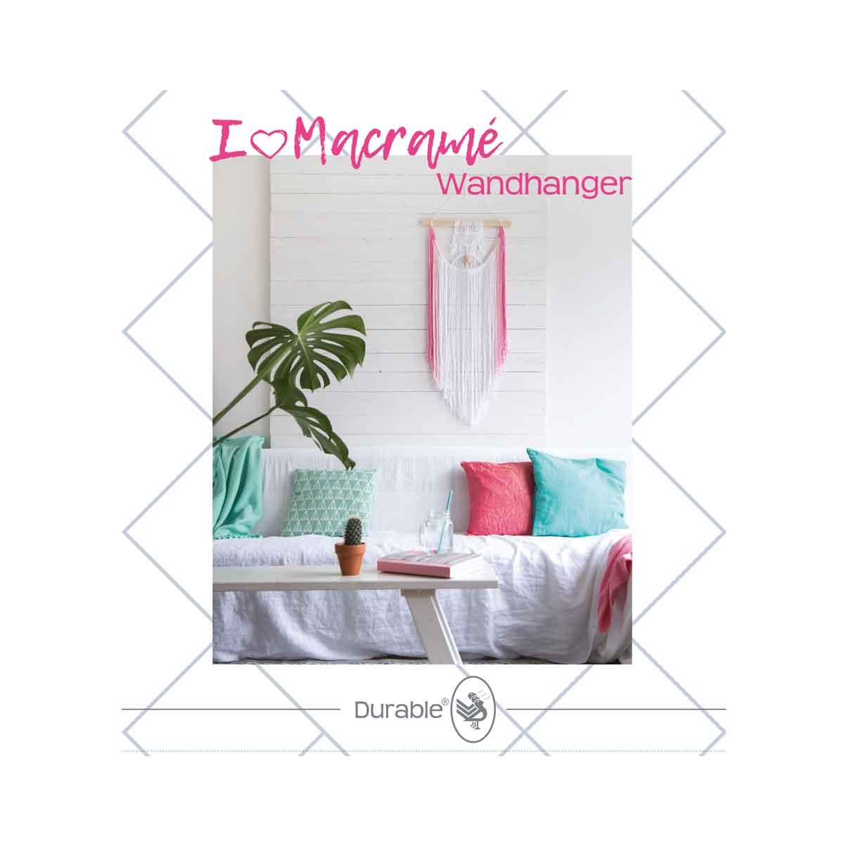 durable macrame pakket wandhanger