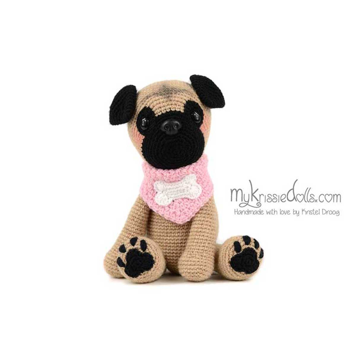 hondjes van sokkenwol mopshond pip haakpakket