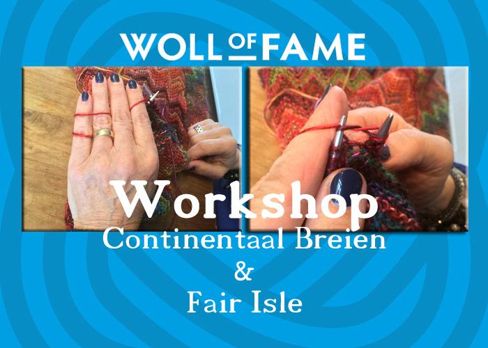 workshop continentaal breien en fair isle zaterdag 5 oktober