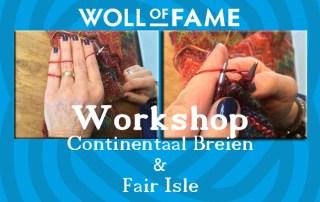workshop continentaal breien en fair isle 16 maart