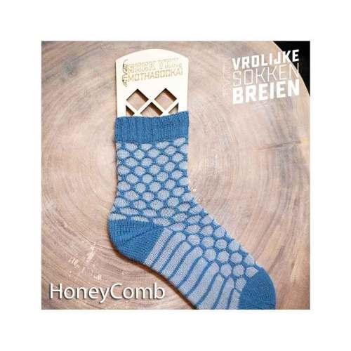 vrolijke sokken breien honeycomb