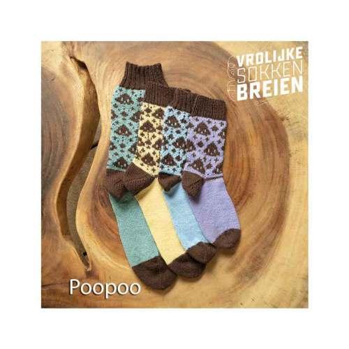 vrolijke sokken breien poopoo