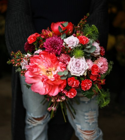 Stun them with shades of pinks and purples - this beautiful and colourful bouquet is just what you need to say 'Congratulations' with!