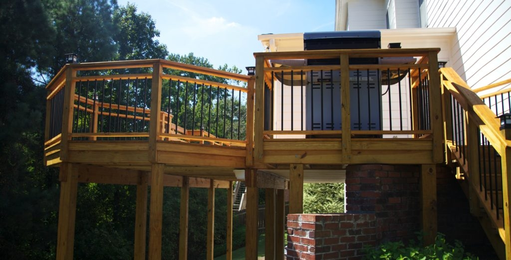Building A Deck With Treated Wood – The Ultimate Guide Lonza | Pressure Treated Stair Handrail | Sturdy | Step | Deck Rail | Long Deck | Treated Lumber