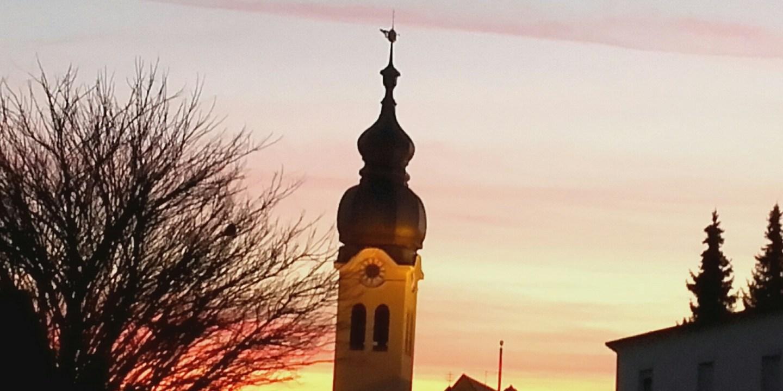 Sonnenuntergang in Wolnzach