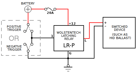 Automotive Latching Relay