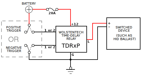 TDRx Automotive Time-Delay Relay Installation Instructions