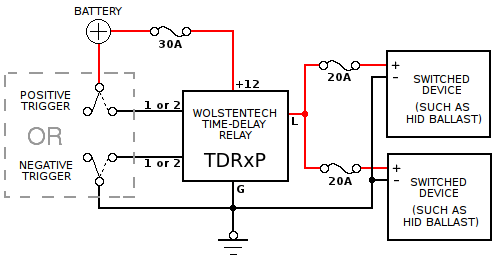 time delay relay circuit diagram weider pro 4950 cable automotive installation instructions tdr p connections