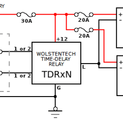 Time Delay Relay Circuit Diagram Bathroom Light Extractor Fan Wiring Automotive Installation Instructions Connections