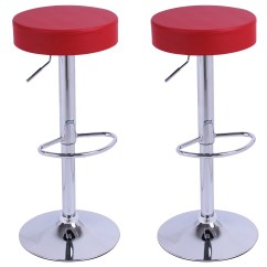 Stool Chair Red Folding Picnic Chairs Tesco Bar Stools Set Of 2 1 Faux Leather Adjust Breakfast
