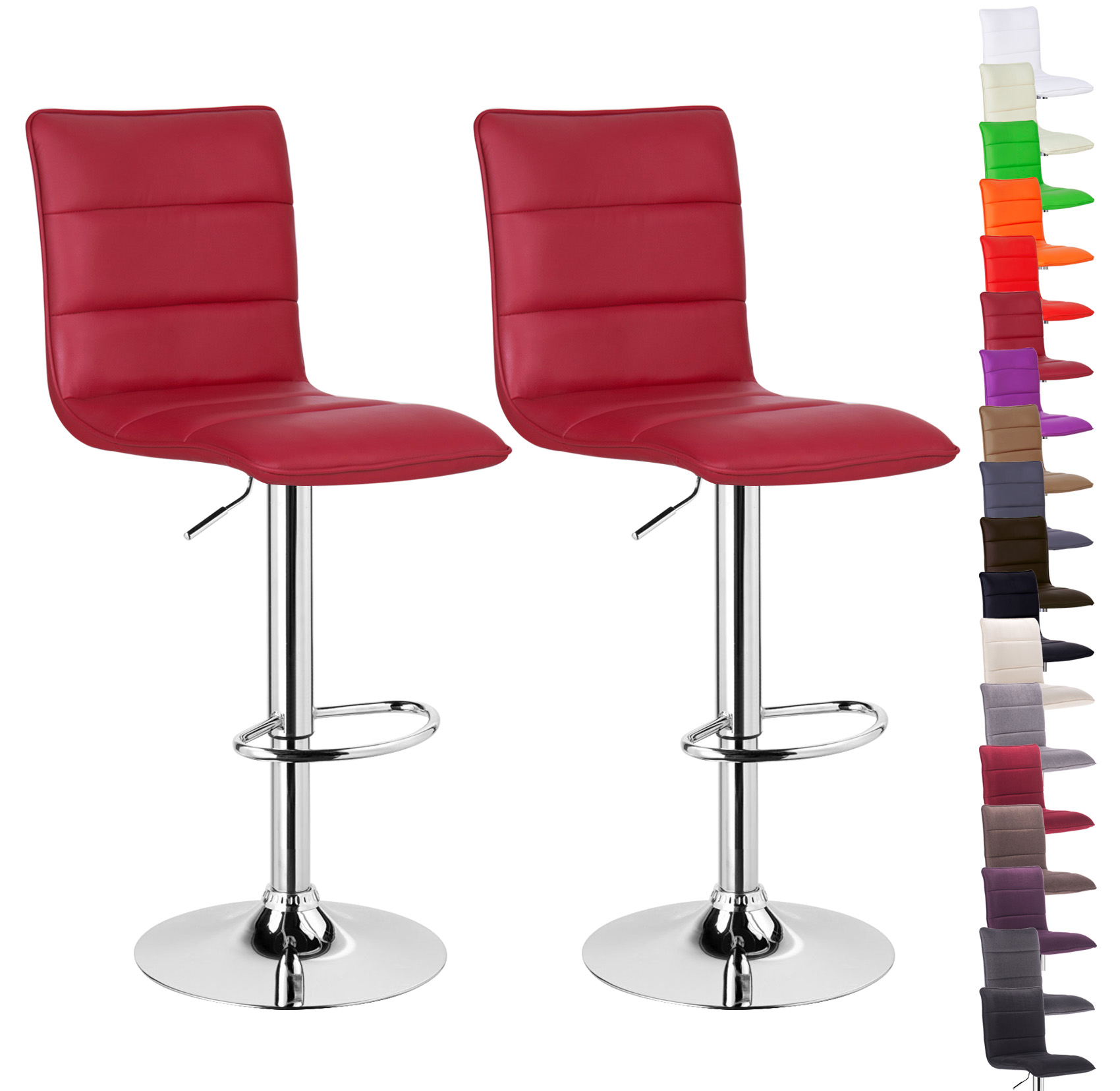 stool chair red dining covers cape town bar stools set of 2 1 faux leather adjust breakfast