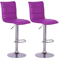2 x Bar Stools Faux Leather Swivel Breakfast Kitchen Stool ...