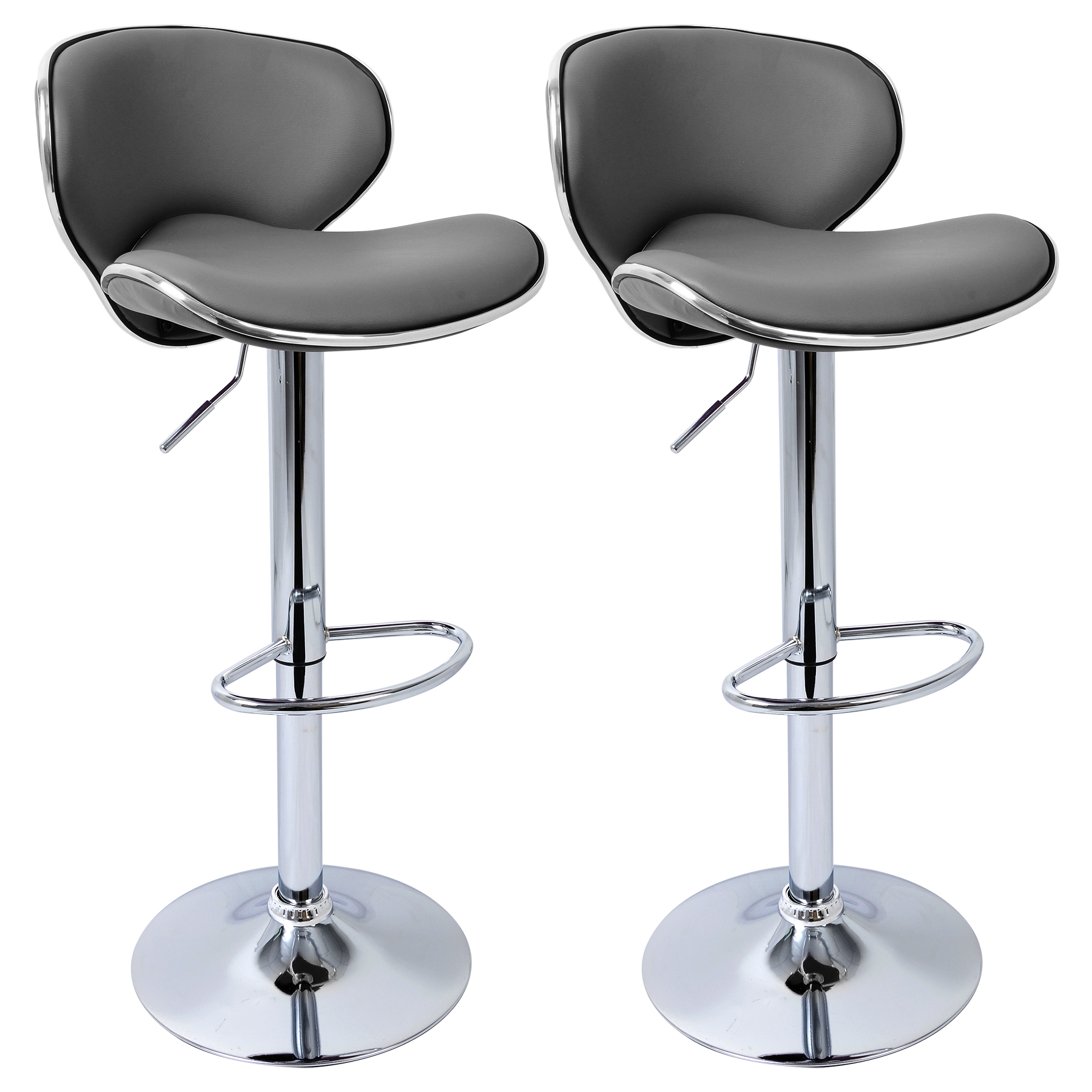 bar stool chair grey cosco folding table and chairs 1 2 pcs faux leather stools kitchen breakfast