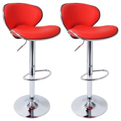 Stool Chair Red Swivel And A Half Bar Stools Set Of 2 Breakfast Kitchen Chairs
