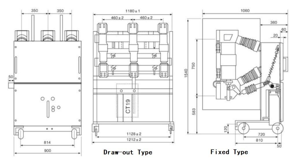 ZN23-40.5 Indoor VCB 33-40.5kV Vacuum Circuit Breaker