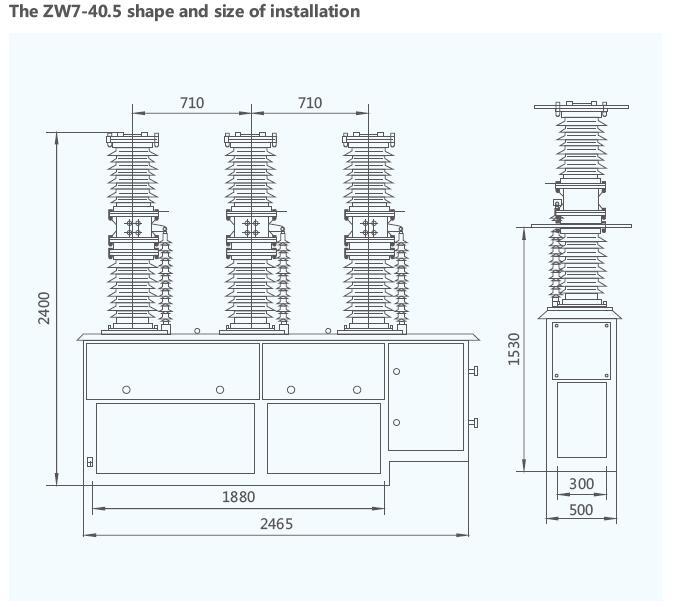 ZW7-40.5 33kV High Voltage Outdoor Vacuum Circuit Breaker