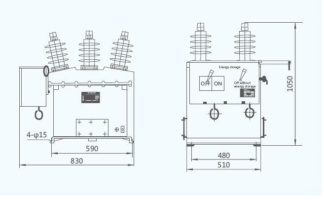 ZW8-12 12KV Outdoor High Voltage Vacuum Circuit Breaker