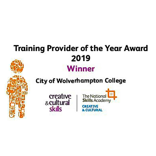 Training Provider of the Year Award Creative & Cultural Skills 2019