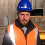 Former construction student Shaun Wickett