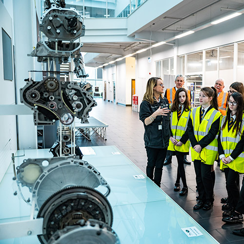 JLR Education Centre Students Taking a Tour