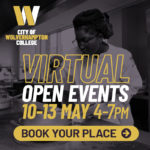 Logo advertising virtual open event 10-13 May