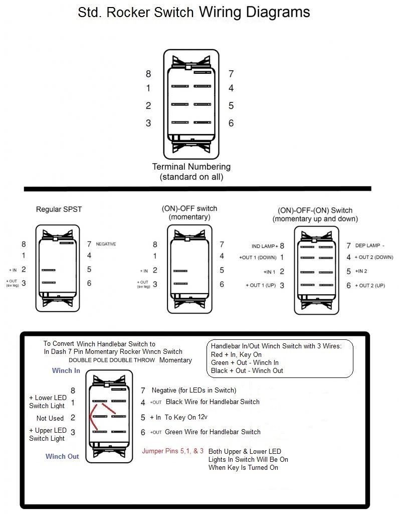 winch rocker switch wiring diagram