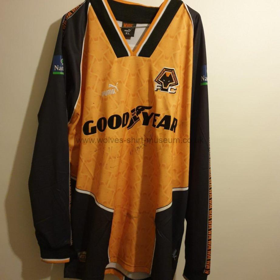 Wolves 1996 1997 1998 iconic shirt - front