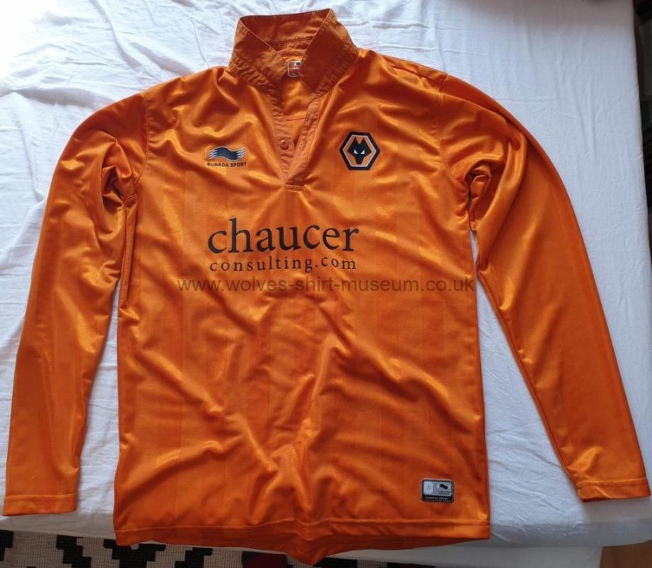 2012-13 home shirt by Burrda Sport - academy issue with Chaucer