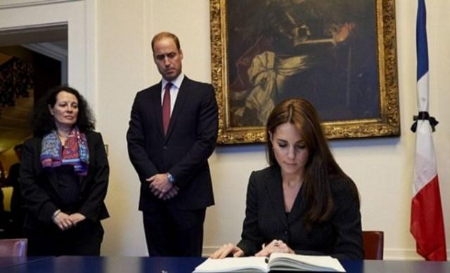 Принц Уильям и Кейт Миддлтон посетили посольство Франции