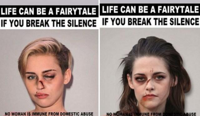 Кристен Стюарт, Анджелина Джоли и другие звёзды стали жертвами домашнего насилия