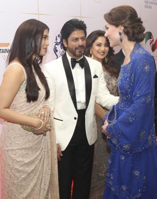 Принц Уильям и Кейт Миддлтон на приёме в Мумбаи