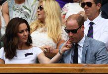Принц Уильям и Кейт Миддлтон на финале Уимблдонского турнира