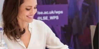 Анджелина Джоли провела ещё одну лекцию для студентов