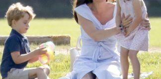 Кейт Миддлтон с детьми посетила игру в поло