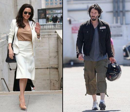 Нового романа слух: у Анджелины Джоли роман с Киану Ривзом?