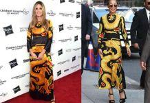 Хайди Клум и Рут Негга в платье Valentino