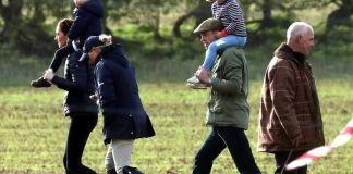 Принц Уильям и Кейт Миддлтон с детьми сходили на конные соревнования